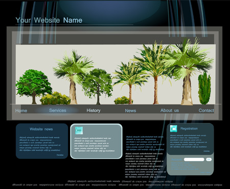 sea side: Web page template, Sea side town, travel concept Illustration