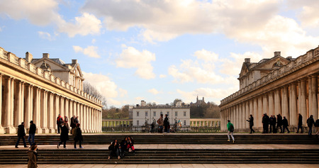 royal park: Greenwich park, Royal Navy college, Queen s palace Editorial