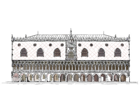 marco: Venice sketch collection, Doge palace
