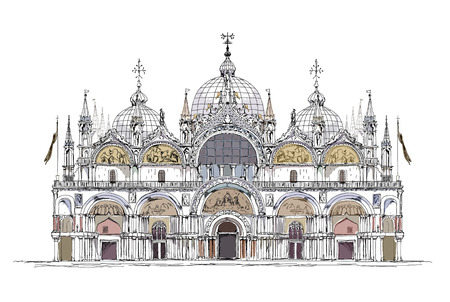 palace: basilica San Marco, Venice sketch collection