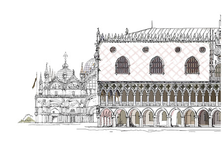 marco: San Marco and Doge s palace, Venice Sketch collection