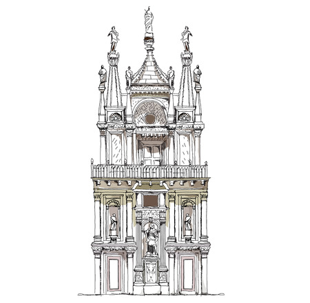 marco: Doge s courtyard building, Venice, sketch collection