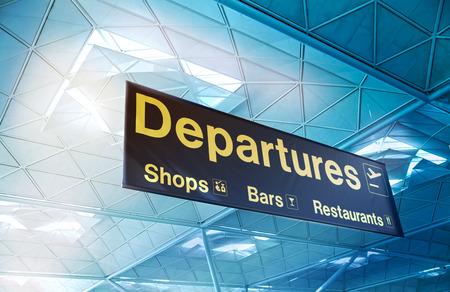 arrival departure board: Departure sign in airport