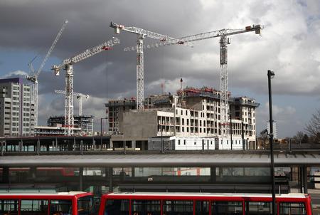 new build: building site, London, Poplar
