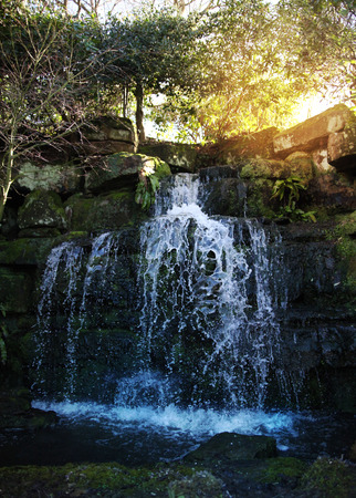 tudor: waterfalls in 250 acre park  13th century Tudor manor