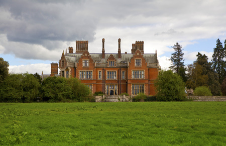 spiritualist: STANSTED HALL, ESSEX UK - APRIL 9, 2014  - Stansted Hall the headquarters of English spiritualist  Main place for meeting and practising the spiritual contact, now opens the educational College