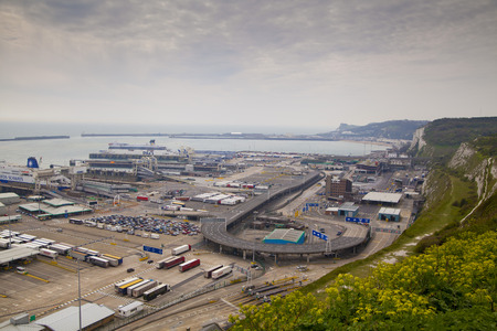 DOVER, UK - APRIL 12, 2014  - Dover port, busiest port of England got the plan to build the Third terminal
