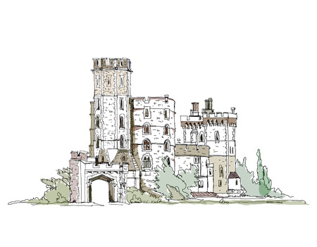 queen s: Windsor castle, England, Queen s favourite castle  Sketch collection
