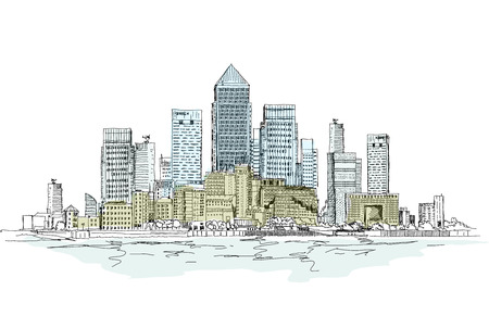 canary wharf: Canary Wharf business aria, London, Sketch collection
