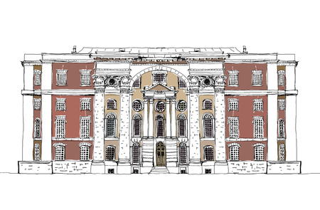 houses of parliament london: London UK, Sketch collection, Greenwich navy office building Illustration