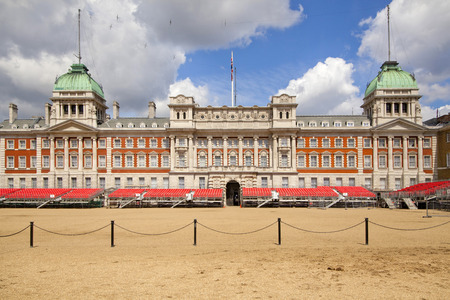 LONDON, UK - MAY 14, 2014  - Ministry of Defence, Admiralty House, Household Cavalry Museum, Horse Guards Parade  Westminster,