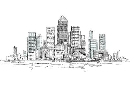 aria: Canary Wharf aria negocio, Londres, Colecci�n del bosquejo
