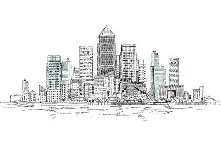 canary: Canary Wharf business aria, London, Sketch collection