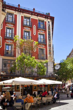 MADRID, SPAIN - MAY 28, 2014  Old Madrid city centre street