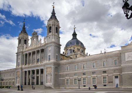 MADRID, SPAIN - MAY 28, 2014  Cathedral Santa Maria la Real de La Almudena in Madrid, Spain