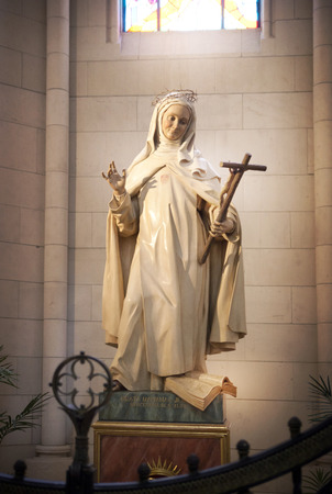 MADRID, SPAIN - MAY 28, 2014  Santa Maria la Real de La Almudena in Madrid, Spain