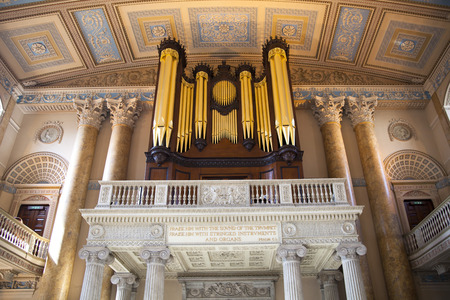 LONDON, UK - MAY 15, 2014  Organ in Royal Chapel in London