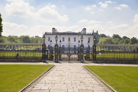 LONDON, UK - MAY 15, 2014  Queen s palace and main lace gate in Greenwich, 1619  Was built as an adjunct to the Tudor Palace