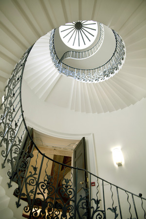 LONDON UK - MAY 15, 2014  Queen s palace tulips stairs, 1619  Was built as an adjunct to the Tudor Palace