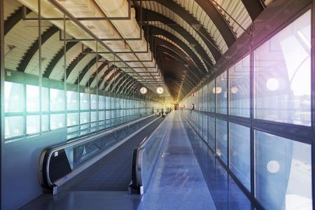 MADRID, SPAIN - MAY 28, 2014  Interior of Madrid airport, departure waiting aria