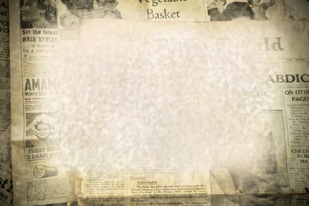 Vintage novinky papírové pozadí Redakční