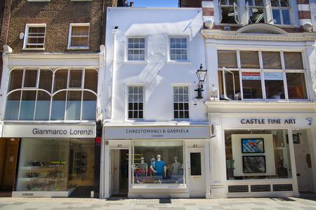 bond street: LONDON, UK - JULY 03, 2014  Bond street boutiques, street of famous small fashion businesses