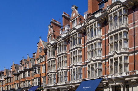 st jamess: LONDON, UK - JUNE 3, 2014  Mayfair town houses and flats, centre of London Editorial