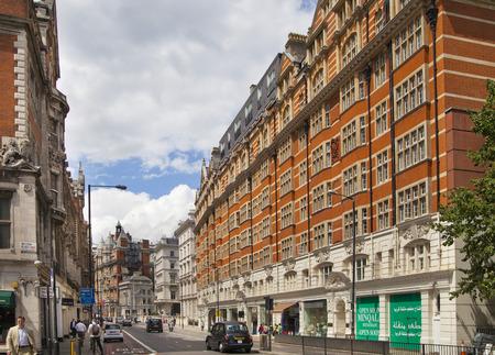 LONDON, UK - JUNE 3, 2014  Mayfair town houses, centre of London