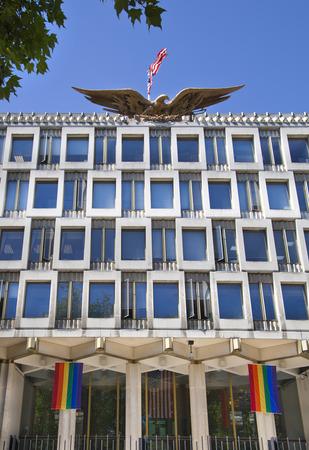LONDON, UK - JULY 29, 2014  USA Embassy in london