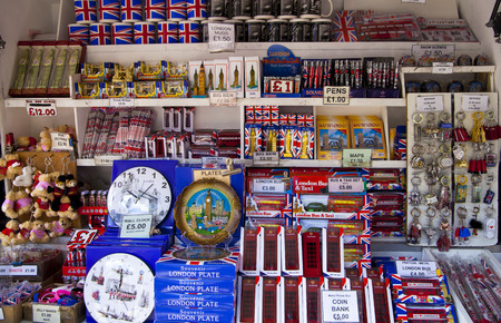 traditional goods: London, gift shop Stock Photo