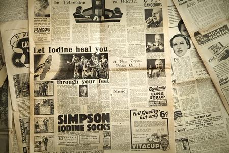 Noticias Vintage fondo de papel Foto de archivo - 30883196