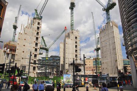 LONDON, UK - JUNE 30, 2014  New big development in Bank of England aria