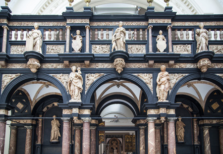 LONDON, UK - AUGUST 24, 2014. sculptures and reliefs in Victoria and Albert Museum. V&A Museum is the world