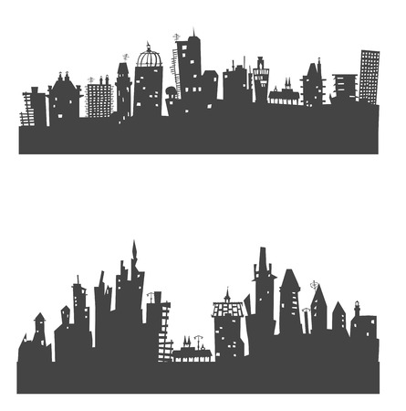 City background with a lots of buildings Vector