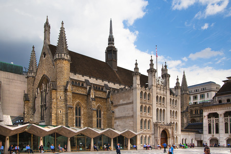 guildhall: LONDON, UK - JUNE 30, 2014: Guildhall Yard buildings, originated 1440