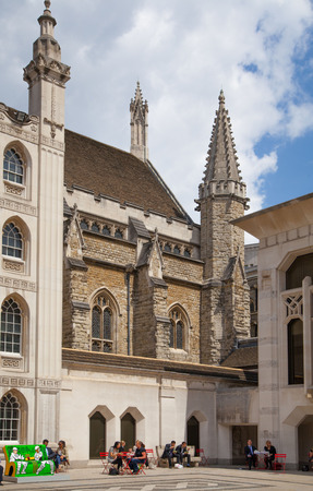 guildhall: LONDON, UK - JUNE 30, 2014: Guildhall Yard buildings, originated 1440