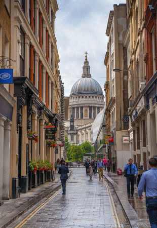 st pauls: LONDON, UK - 18 AUGUST, 2014: St. Pauls cathedral Editorial