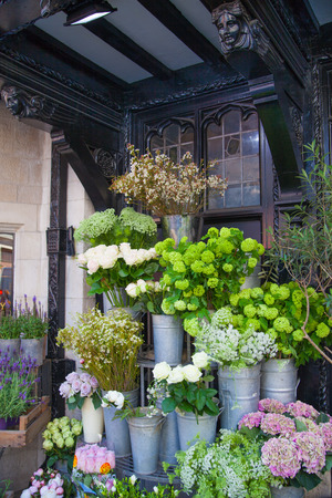 LONDON, UK - 22 JULY, 2014: Liberty house 1875, flower shop