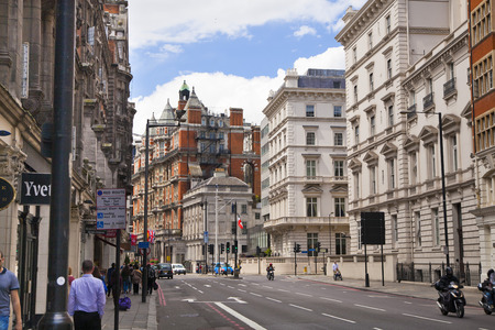 chelsea: LONDON, UK - JUNE 3, 2014: Harrods department store, shopping and restaurants tourists point. Harrods was opened at 1849