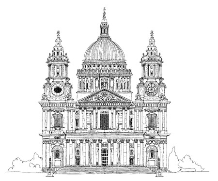 cathedrals: St. Pauls cathedral, London. Sketch collection
