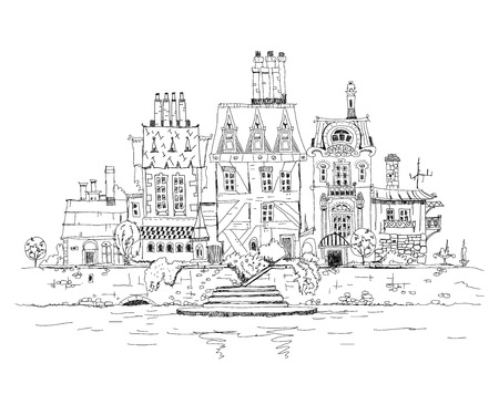 abstract city: Abstract city view, Sketch collection