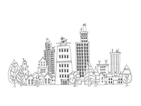 City background, Sketch