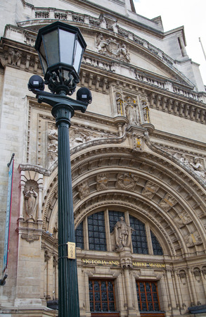 fish exhibition: LONDON, UK - AUGUST 24, 2014: Victoria and Albert Museum historic building. V&A Museum is the world\