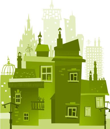 Sfondo città fatta di costruzione di sagome
