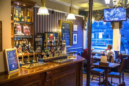 public house: CAMBRIDGE, UK - JANUARY 18, 2015: Classic english public house interior