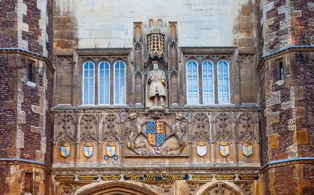 est: CAMBRIDGE, UK - JANUARY 18, 2015: Main gate of the Trinity college, est. 1546