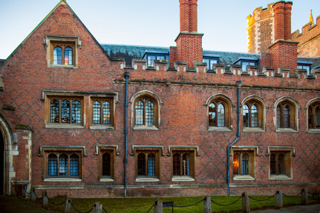 est: CAMBRIDGE, UK - JANUARY 18, 2015:  Trinity college, est. 1546 Editorial