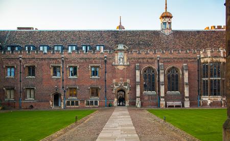 est: CAMBRIDGE, UK - JANUARY 18, 2015: Trinity college, est. 1546