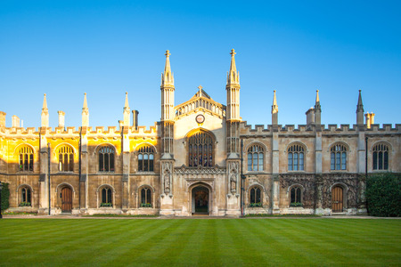 CAMBRIDGE, UK - JANUARY 18, 2015: Corpis Christi University college (1352). University of Cambridge