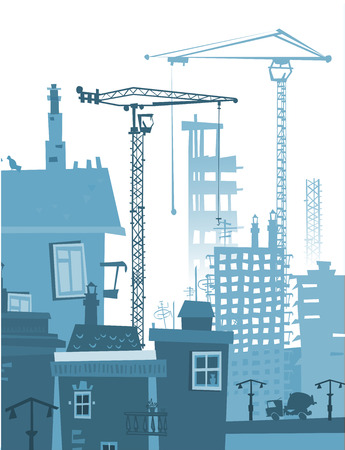 building site: Building site with cranes.